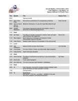 The schedule of this years' meeting is now ready!